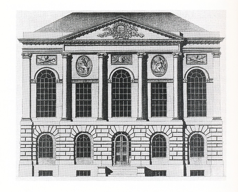The front elevation of Middlesex Sessions Houses